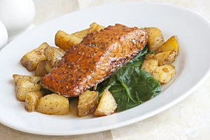 One-Pot Meal # 2: Salmon and Potatoes in Tomato Sauce