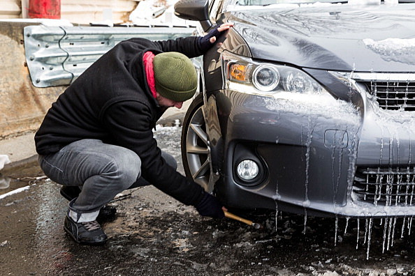 how to get ice off windshield without a scraper